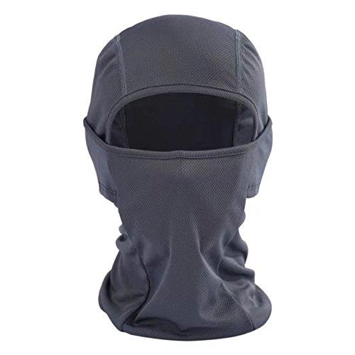 Balaclava Face Mask Ultra Thin Helmet Liner Cover Hood for Outdoor Sports Windproof Sun Protection Bike Motorcycle Skateboard Football Shield Head Sock Ninja Mask Neck Warmer Full Face BandanaGray