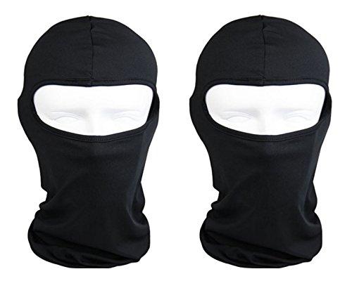 The Bikers Zone 5 Pack- Cotton Stretchable Balaclava Face Mask Ski Mask Helmet Liner Black