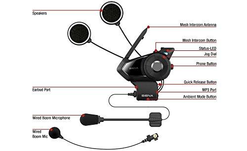 Sena 30K-01D Motorcycle Bluetooth Communication System with Mesh Intercom - Dual Kit