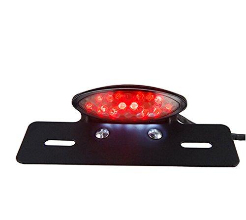 TASWK Motorcycle Bobber Tail Light Tail Brake Stop License Plate Light LED Integrated Taillight Brake Light Red White