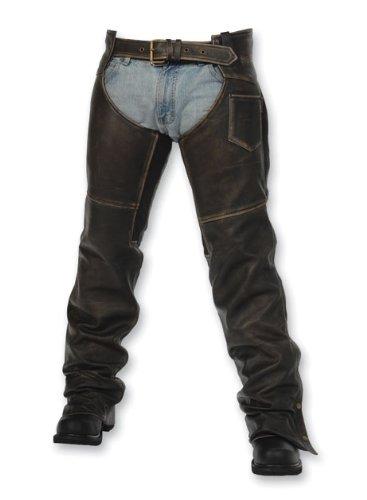 Milwaukee Motorcycle Clothing Company Crazy Horse Unisex Chap (distressed Black, Large)