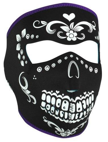 Cold Weather Headwear Wnfm078 Full Mask, Neoprene, Muerte Reversible To Teal