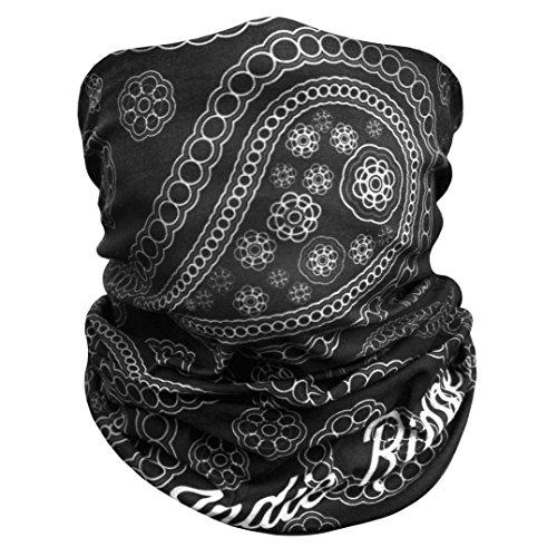 Paisley Outdoor Face Mask Buff By Indieridge - 100% Microfiber Multifunctional Seamless Headwear 11+ Ways To Wear