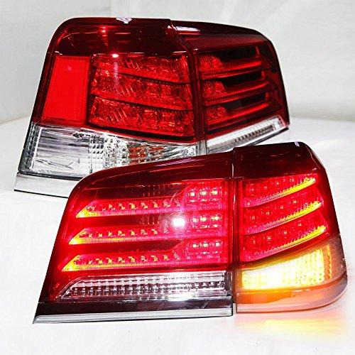 1 Pair Red Color for 2012 2013 2014 Lexus Lx570 LED TAIL Lights Assembly LED Tail Light Rear Lamp DRLBrakeReversingSignal LED DRL Stop Rear Lamp
