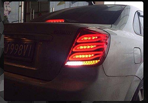 1 Pair for 2008 2009 2010 2011 2012 2013 2014 Chevrolet Lacetti LED TAIL Lights Assembly LED Tail Light Rear Lamp DRLBrakeReversingSignal LED DRL Stop Rear Lamp