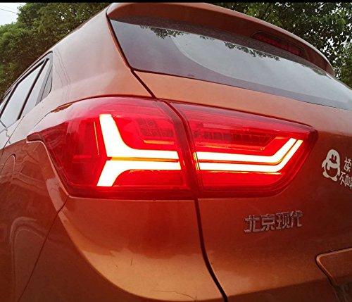 1 Pair for 2016 2017 Hyundai Ix25 Creta LED TAIL Lights Assembly AUDI Design LED Tail Light Rear Lamp DRLBrakeReversingSignal LED dynamic Signal LED DRL Stop Rear Lamp