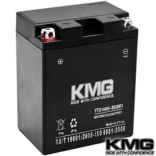 Kmg® Ytx14ah-bs Sealed Maintenace Free Battery High Performance 12v Smf Oem Replacement Maintenance Free Powersport