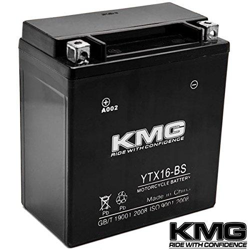 Kmg® Ytx16-bs Sealed Maintenace Free 12v Battery High Performance Smf Oem Replacement Maintenance Free Powersport