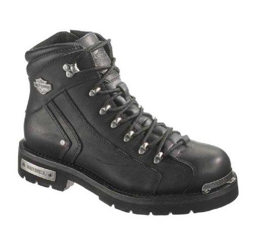 Harley-davidson® Men's Black Leather Electron 6-inch Boots. D96017