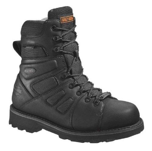 Harley-davidson® Wolverine® Men's Fxrg-3 Waterproof Black Leather Motorcycle Boots. D98304