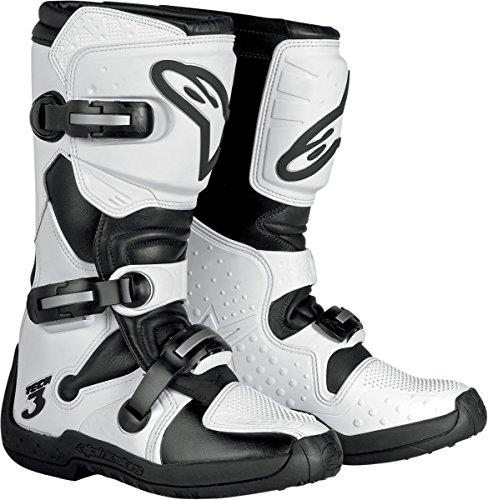 Alpinestars Stella Tech 3 Womens MotoX Motorcycle Boots - WhiteBlack  Size 8