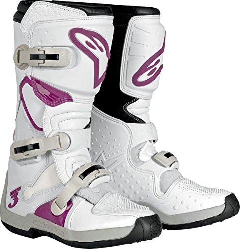 Alpinestars Stella Tech 3 Womens MotoX Motorcycle Boots - WhiteViolet  Size 10
