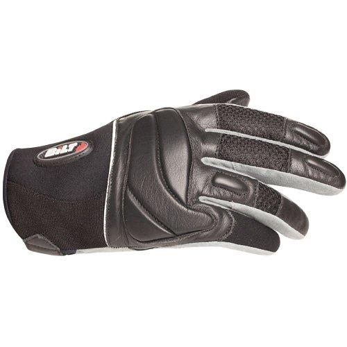 BILT Blazer LeatherMesh Motorcycle Gloves - MD Black