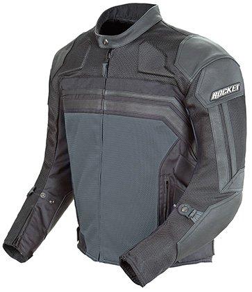 Joe Rocket Reactor 30 Leather-Mesh Motorcycle Jacket BLACKGUN METAL