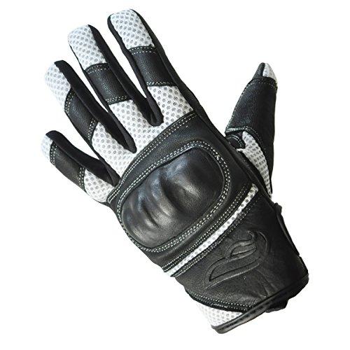 Mens Fulmer GT22 Vented Hard Knuckle LeatherMesh Gloves Motorcycle Riding