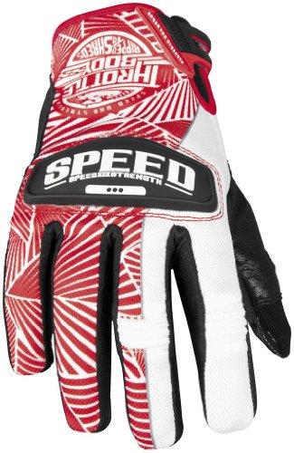 Speed Strength Womens Throttle Body Leather Mesh Gloves 2013 Red White SSmall