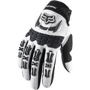 Fox Racing Dirtpaw Mens Off-RoadDirt Bike Motorcycle Gloves - Color white Size Medium