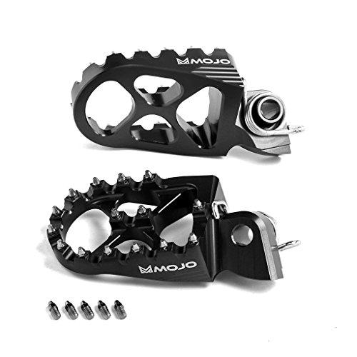 MOJO KTM Footpegs Fits 2002-2014 KTM Dirt Bikes Most 2015 16s Anodized Black CNC Billet Footpeg 7075 Alum