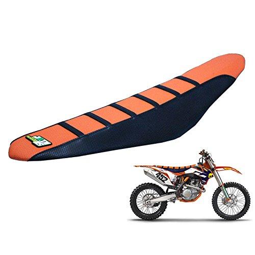 JFG RACING OrangeBlack Gripper Soft Motorcycle Seat Cushion Covers For KTM SX85 85 SX 2013-2016