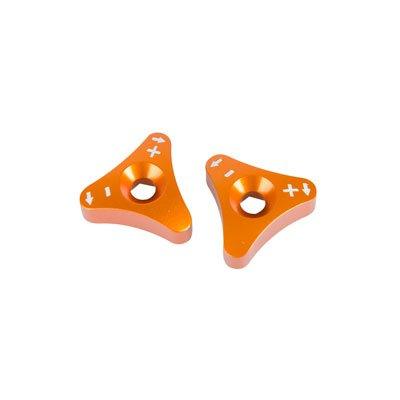 Tusk Billet WP Fork Adjuster Knobs Orange - Fits KTM 300 XC-W E-Start 2008-2018