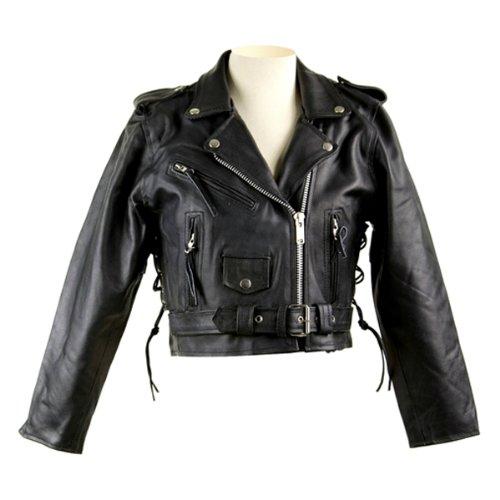 Classic Leather Biker Jacket Lj602 For Women 4xl