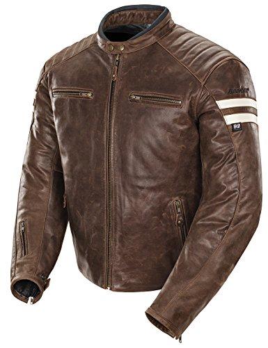 Joe Rocket Classic '92 Men's Leather Motorcycle Jacket (brown/cream, Medium)