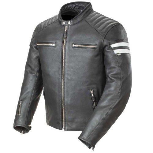 Joe Rocket Men's Leather Classic '92 Motorcycle Jacket Black Large