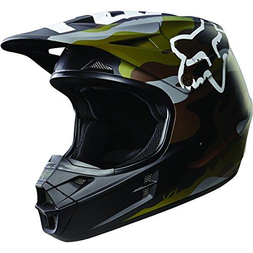 Fox Racing Camo Mens V1 Motocross Motorcycle Helmet - Green Camo  X-Small