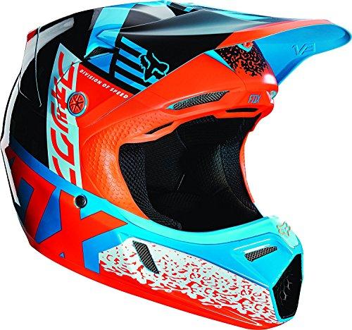 Fox Racing Divizion Youth V3 Motocross Motorcycle Helmet - Aqua  Large