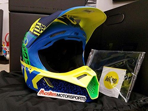 Fox Racing Divizion Youth V3 Motocross Motorcycle Helmet - BlueGreen  Large