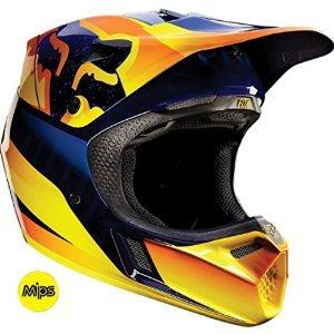 Fox Racing Flight Mens V3 Motocross Motorcycle Helmet - Orange  Medium