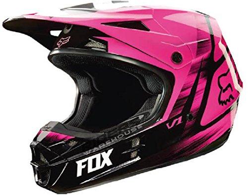 Fox Racing Vandal Mens V1 Motocross Motorcycle Helmet - Pink  2X-Large