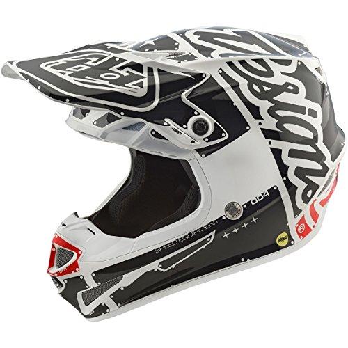 Troy Lee Designs Factory Boys SE4 Motocross Motorcycle Helmet - WhiteLarge
