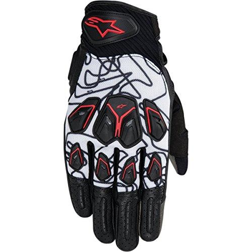 Alpinestars Masai Mens Street Motorcycle Gloves - BlackWhiteRed  X-Large