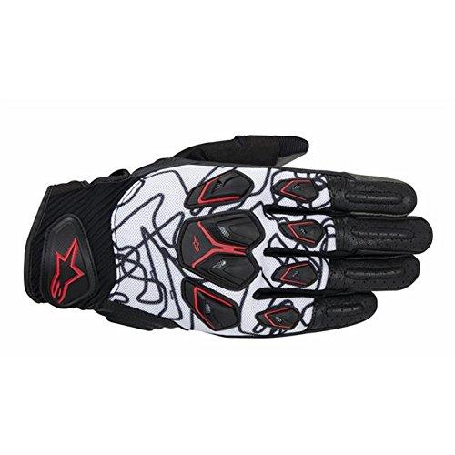 Alpinestars Masai Motorcycle Gloves BlackWhiteRed Lg 3567414-123-L