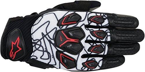 Alpinestars Masai Motorcycle Gloves BlackWhiteRed Md 3567414-123-M