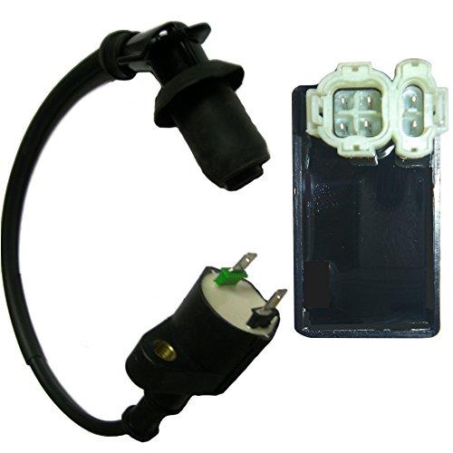 Cdi Box & Ignition Coil Spark Plug Wire 2000 2001 2002 2003 Honda Xr 50 Xr50 New