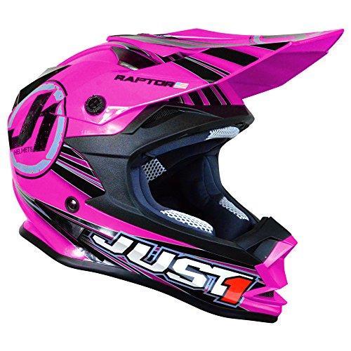 Just 1 J32 Raptor Motocross Helmet Pink Youth Small