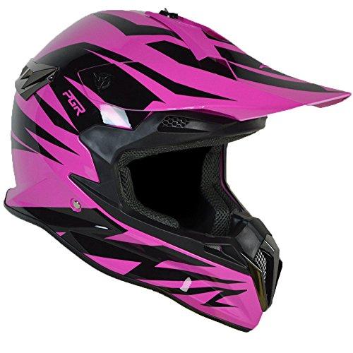 PGR SX22 SLASH Adult MX Motocross ATV Dirt Bike Quads Rackus Enduro Downhill DOT Helmet Large Neon Pink Black