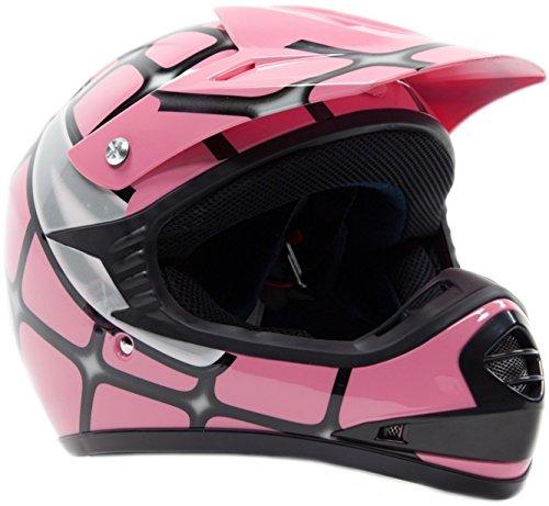 Youth Offroad Helmet DOT Motocross ATV Dirt Bike MX Motorcycle Spiderman Pink  Medium