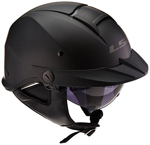 LS2 Helmets Rebellion Unisex-Adult Half Helmet Motorcycle Helmet Matte Black X-Large