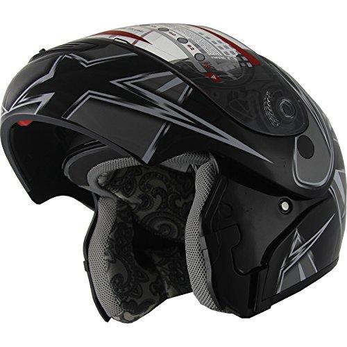 Snowmobile Helmet Motorcycle Helmet Modular Flip up Anti Fog 235 Black M