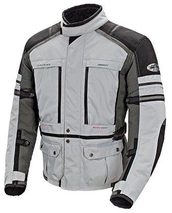 Joe Rocket Men's Ballistic Adventure Touring Motorcycle Jacket Silver/gun Metal Xlarge