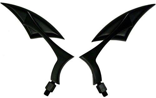 BLACK SPEAR ALUMINUM MINI MIRRORS FOR 2002 Yamaha V Star 650 XVS650A Classic