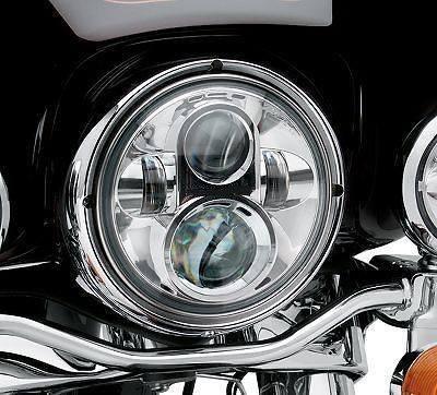 7 LED Headlight For Harley Davidson MOTORCYCLE CHROME PROJECTOR DAYMAKER HID LED LIGHT BULB Jeep Wrangler LED Headlamp