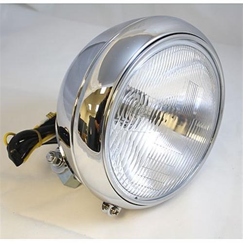 DBI 7 FatboyHeritage-Style 55W DOT Headlight For Harley-Davidson