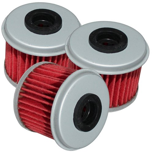 Caltric 3 Pack Oil Filter Fits Honda 450 Crf450r Crf450x Crf-450x 2002-2014
