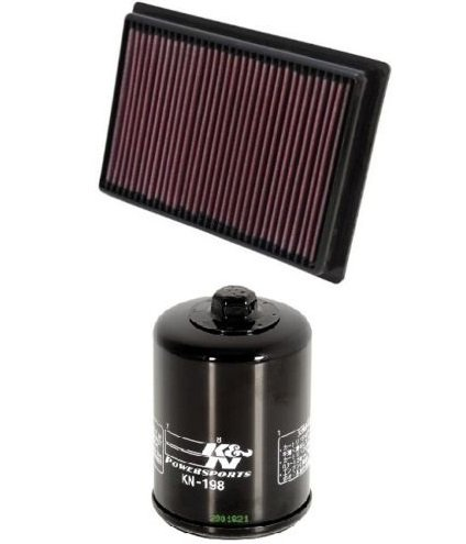 K&N ATV Air Filter  Oil Filter Combo 2013 2014 Polaris Ranger 900 XP EPS PL-5712  KN-198