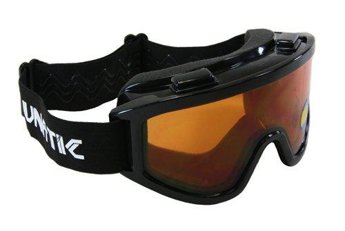Lunatic, L-100d, Adult Dual Lens Goggles - Black With Amber Lens - Motocross Atv Mx