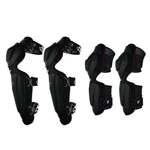 Huntingwolf Racing Knee Shin Elbow Guards Motorcycle Motocross Protective Gear - KN02